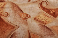 Ancient fabric vintage wallpaper background Royalty Free Stock Image