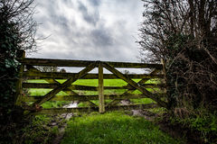 Ancient farm gate Royalty Free Stock Images