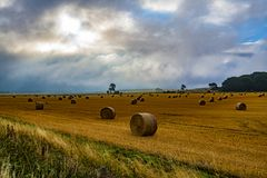 Ancient farming landscape near Avebury in Wiltshire, England royalty free stock photos