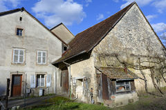 The ancient farms. Ancient farms in a village in France Stock Photos