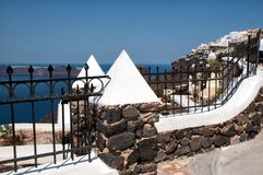 Ancient fence in Santorini, Cycladic islands Royalty Free Stock Photos