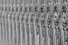 Ancient fencing from old steel of gray color Royalty Free Stock Image