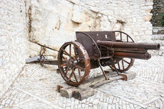Ancient field gun Royalty Free Stock Image