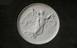 Ancient figurative sculpture. Ancient religous sculpture (Classical christian relief Stock Photos