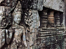 Ancient figure Angkor Wat Royalty Free Stock Images