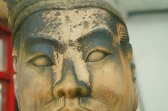 Ancient figure statues, interesting facial expressions. The ancient figure of the statue, the facial expression is interesting. In Shenzhen, China stock images