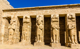 Ancient figures in the Medinet Habu temple Stock Photo