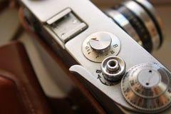 The ancient film camera close up Stock Photos