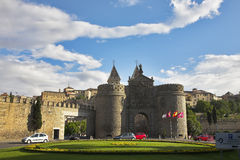 Ancient fine gate of city Toledo Royalty Free Stock Photo