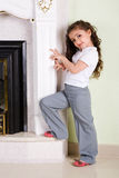 By the ancient fireplace Stock Photography