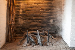 Ancient fireplace Royalty Free Stock Photo