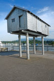 Ancient fisherman's hut raised on stilts Royalty Free Stock Photography