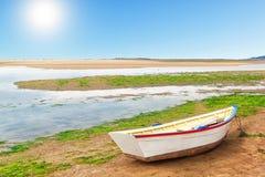 Ancient fishing boat. Stock Photo
