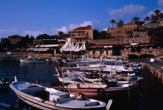 Ancient Fishing Port of Byblos Royalty Free Stock Images