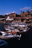 Ancient Fishing Port of Byblos Stock Photo