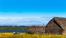 Ancient fishing village, Etang de Canet-Saint-Nazar, South of France Stock Image