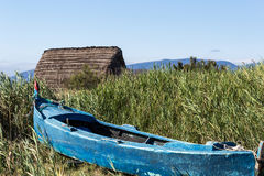 Ancient fishing village, Etang de Canet-Saint-Nazar, South of France Royalty Free Stock Photo