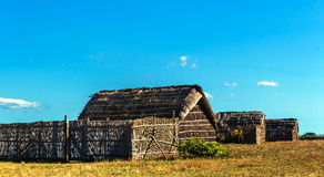 Ancient fishing village, Etang de Canet-Saint-Nazar, South of France Royalty Free Stock Photography