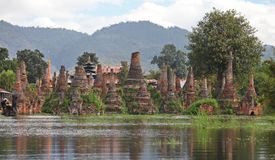 Ancient flooded pagodas Stock Image