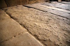 Ancient floor. In a temple, Egypt Royalty Free Stock Image