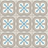 Ancient floor ceramic tiles. Victorian English floor tiling design, seamless vector pattern stock illustration