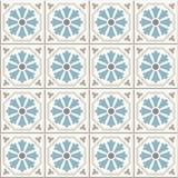 Ancient floor ceramic tiles. Victorian English floor tiling design, seamless vector pattern royalty free illustration