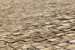 Diminishing Stone Floor - Diagonal Royalty Free Stock Image