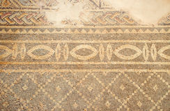 Ancient floor mosaic at Phaphos archaeological park, Cyprus. Stock Photos