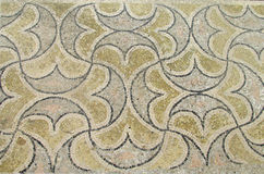 Ancient floor mosaic in ruins of Volubilis, Morocco Royalty Free Stock Images