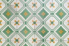 Ancient floor tiles. Ancient style of floor tiles pattern and background Stock Photos