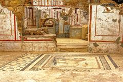 Ancient floor and Wall Decorations Stock Image