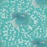 Ancient flower deco seamless pattern Stock Photography