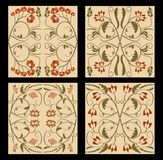 Ancient folklore tile set. Nostalgic colored floklore ornament.  Stock Photography