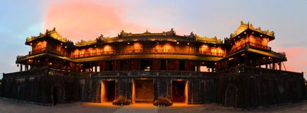 Ancient Forbidden city in Hue, Vietnam Royalty Free Stock Images