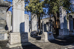 Ancient forest of steles,Beijing. The ancient tablet forest is describing  history, religion, art and culture Stock Photos