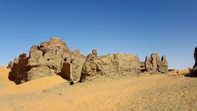 The ancient fort of the desert royalty free stock photo