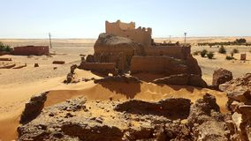 The ancient fort of the desert stock photos