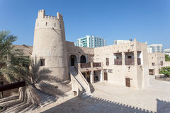 Ancient fort at the museum of Ajman Royalty Free Stock Images