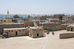 Ancient fort in old egyptian town Stock Image