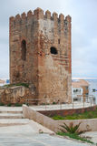 Ancient fort tower in Tangier, Morocco Royalty Free Stock Images