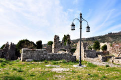 Ancient fortess in Bar, Montenegro. Part of ancient fortess in Bar, Montenegro royalty free stock images