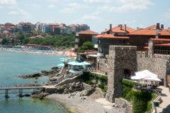 Ancient fortification in the Bulgarian town of Sozopol Royalty Free Stock Photography