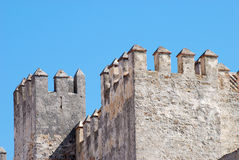Ancient fortification in Tarifa, Spain stock image