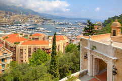 Ancient fortification and view of Monte Carlo. Royalty Free Stock Photo