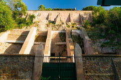 Ancient fortifications on the Aventine Hill in Rome Stock Image