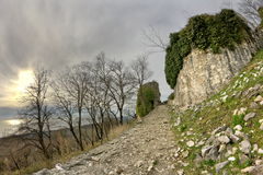 Ancient fortifications in the mountains Royalty Free Stock Images