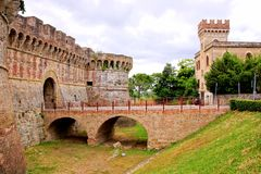 Ancient fortifications of Tuscany Royalty Free Stock Images