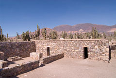 Ancient Fortified Citadel in Tilcara, Northern Arg. Entina stock photography