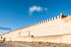 Ancient fortified wall in Fez Stock Photography
