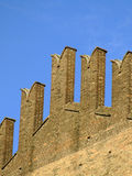Ancient fortified walls. Detail of the ancient fortified walls of King Enzo Palace in Bologna Stock Image
